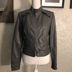 Hip Grey Vegan Leather Jacket.  Adorable and Great